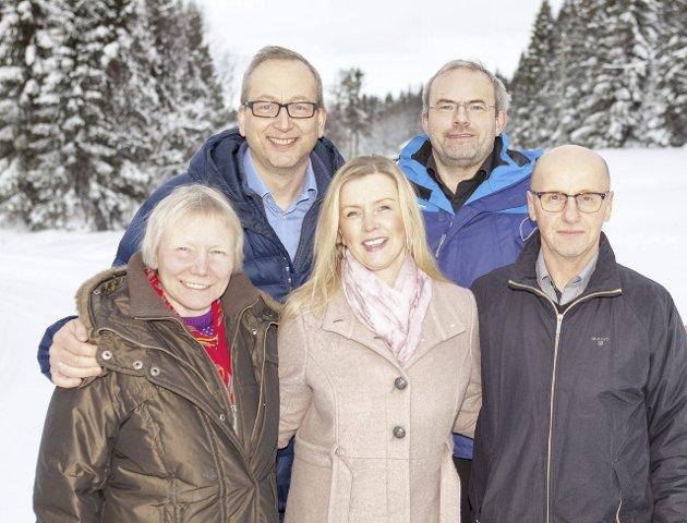 Styret i Folkeaksjonen for ETS: Torill Helene Larsen, Kjersti Myrnes Balto, Pål Johansen, Reidar Karlsen og Terje Bartholsen.