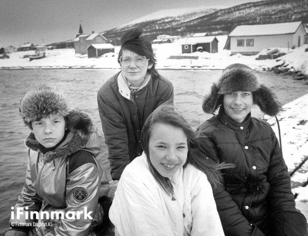 Christian Myhre, Bernt Frode Bøgeberg, Sølvi Johansen og Ann Karin Andersen. 15.04.1987.