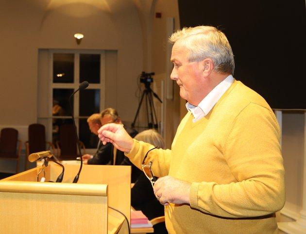 KRISE: Per Egil Evensen (FRP) beskriver i denne ytringen fastlegesituasjonen i Halden som katastrofe.