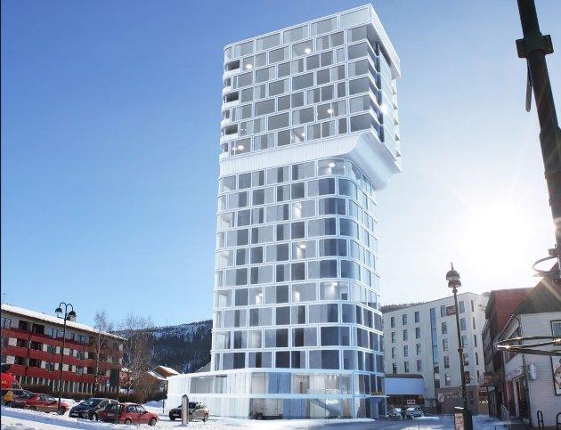 Leserbrevskribenten liker ikke planene om et hotell på 20 etasjer i Mo i Rana sentrum.
