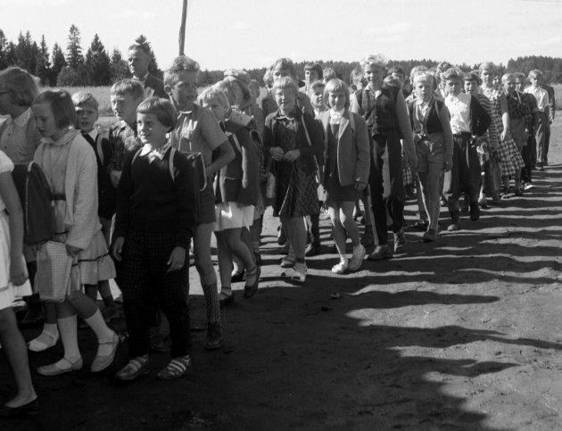 1958: Fevang skole ble innviet.