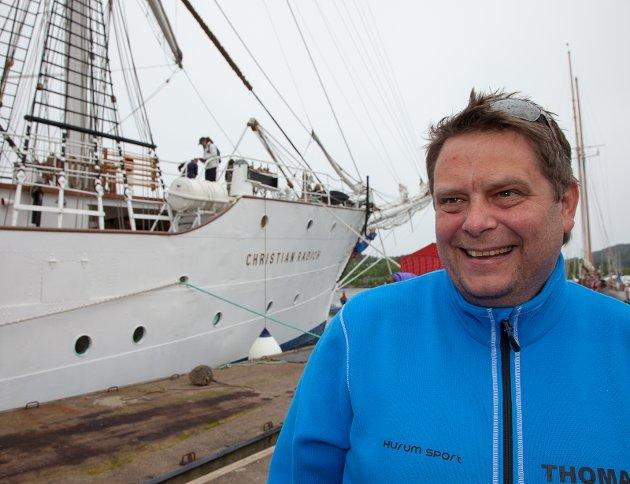 FORNØYD: Styreleder Thomas Jacobsen i Hurum Trebåtfestival er svært fornøyd med festivalen. Henning Jønholdt