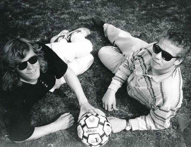 1993: Aslak Salkjellsvik og Lars Roar Lane fotogafert 20. juli 1993.
