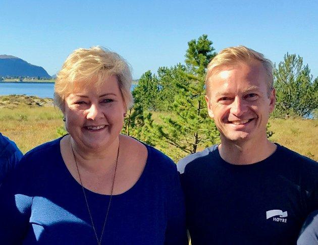 Sammen skal vi fortsette å bygge Møre og Romsdal, og legge til rette for skaperglede og nye jobber i årene som kommer, skriver statsminister Erna Solberg og stortingsrepresentant Helge Orten.