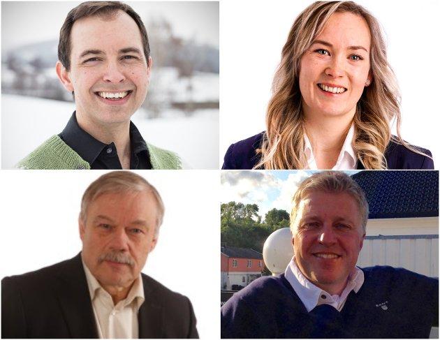 Øvre Eiker Senterparti sine  representanter i kommuneplanutvalget, gruppeleder Kim Mogen Myhre, Tonje Adelsten Lyngås, Morten Halvorsen og Håvard Lind.