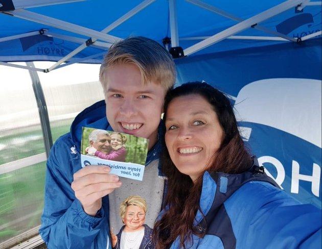 Tage S. Jensen og Trude Thorsdatter Evensen, 5. og 2. kandidat for Nesodden Høyre (hhv.)