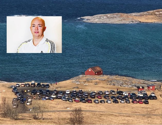 Børje Klæbo Eidissen, redaktør i Avisa Nordland, holdt seg unna folk på Mjelle, Skjærtorsdag.