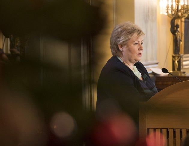 LANGFLAT: Statsminister Erna Solbergs beklager.