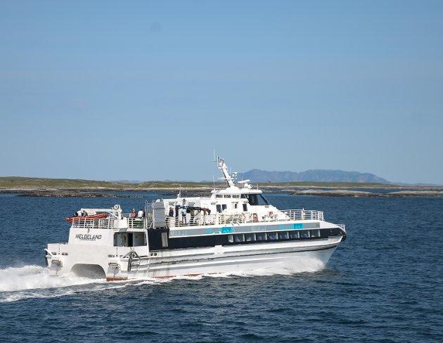 Leserbrevskribenten er frustrert over kanselleringer av MS Helgeland på Helgelandsruten ved 7 m/s vind.