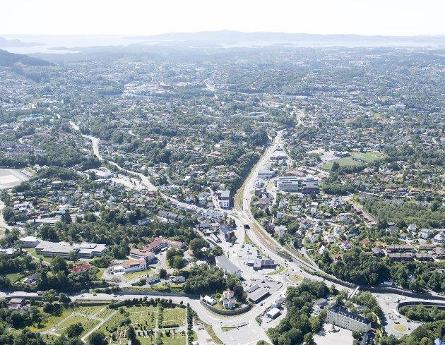 Manglende tilrettelegging av nytt tomteland presser unge ut av Bergen og ut av boligmarkedet. Byrådet viser en oppsiktsvekkende passiv holdning til å gjøre noe med utfordringen. FOTO: ARNE RISTESUND