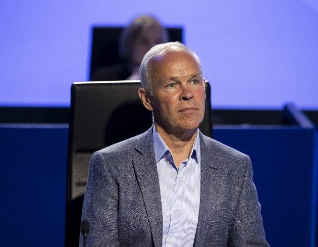 Regjeringen, her representert ved finansminister Jan Tore Sanner (H), har lagt frem et lovforslag som vil gi deltidsansatte og  lavtlønnede bedre pensjon. De vil imidlertid ikke innføre ordningen før 2023.  Foto: Berit Roald/NTB