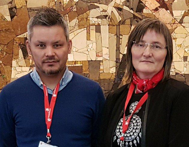 Toril Bakken Kåven,Parlamentarisk leder Nordkalottfolket og  Lars Filip Paulsen, Parlamentarisk leder Høyre