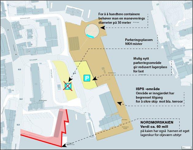 Havnen blir svekket ved det som nå er planlagt på Devoldholmen, mener Tor Johansen.
