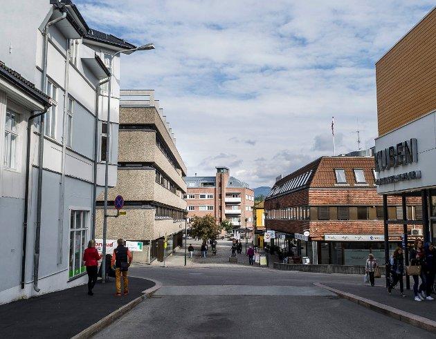 Lise Bye Jøntvedt (H) mener Hønefoss må lære av Fredrikstad. Blant annet ved å la butikkundene gå et stykke, framfor å parkere rett utenfor døren.