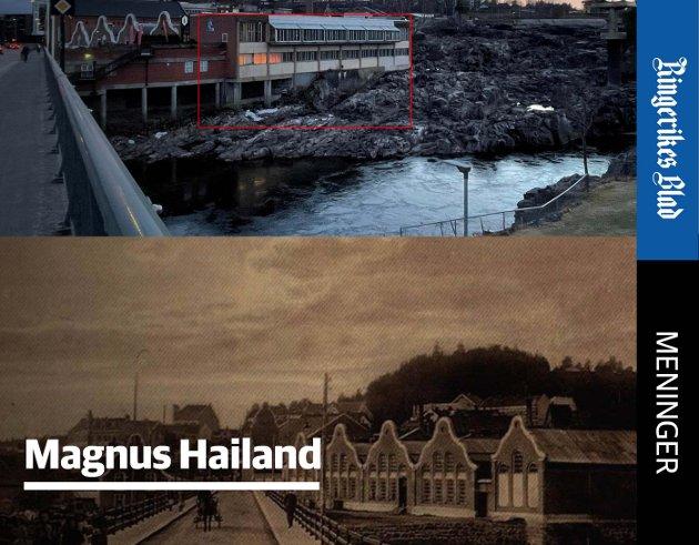HELHET: Fasaden sett fra nord i gammel og ny tid.