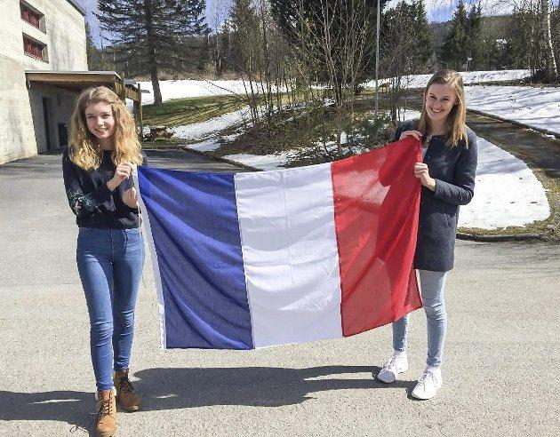 Et viktig språk: Viktoria Skinstad (t.v.) og Synne Marie Aamodt heier på Frankrike og fransk språk. De mener folk må få øynene opp for at fransk er et språk i eksplosiv vekst.