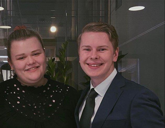 REAGERER: Camilla Maria brekke og Fredrik Sørlie