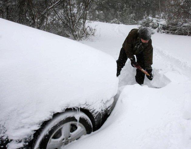 ELBIL-SKEPSIS: Det er mange som fortsatt er skeptiske til elbiler i snø og kulde. Fra nyttår vil regjeringen at både fylke og kommune kun skal kjøpe nullutslipps-biler.