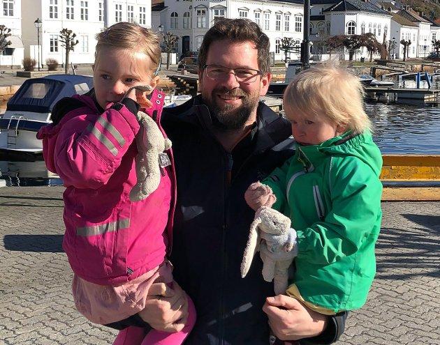 Trygve Laugstøl, Stabekk: – Vi er på hytta på Vegårshei, og gleder oss til godterijakt i skogen.