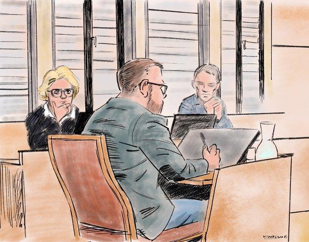 TILTALT: Den tiltalte ektemannen forklarte seg i lagmannsretten mandag.