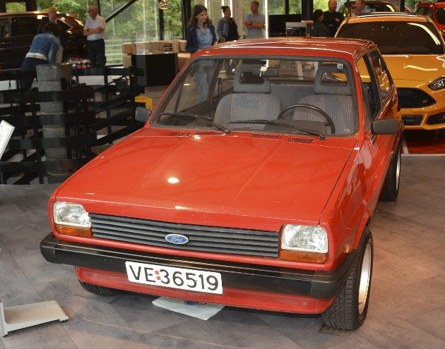 MK1: Ford Fiesta 1,1 liter (1976–83). Første småbil med forhjulstrekk.