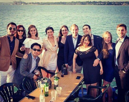 Boat-Ball. Avslutningsball ombord på et skip sammen med medstudenter