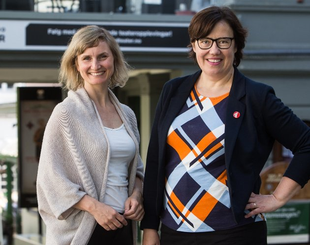 Er Senterpartiet og Arbeiderpartiet eigentleg er klar over kva dei har gjort, spør Marthe Hammer, gruppeleiar for SV i Vestland fylke (t.v) og Hege Lothe, fyrstekandidat for SV i Sogn og Fjordane.