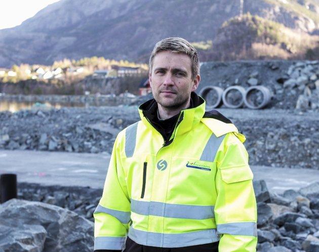 Prosjektleiar: Bjarte Steinhovden leiar utviklingsprosjektet i Breivika i Svelgen, det største for Steinvik Fiskefarm nokon gong.