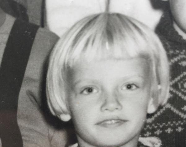 UNG: Karin Andersen som førsteklassing.