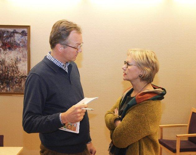 DEBATT: Morten Hagen (GBL) og Randi Eek Thorsen (Ap). ARKIVFOTO