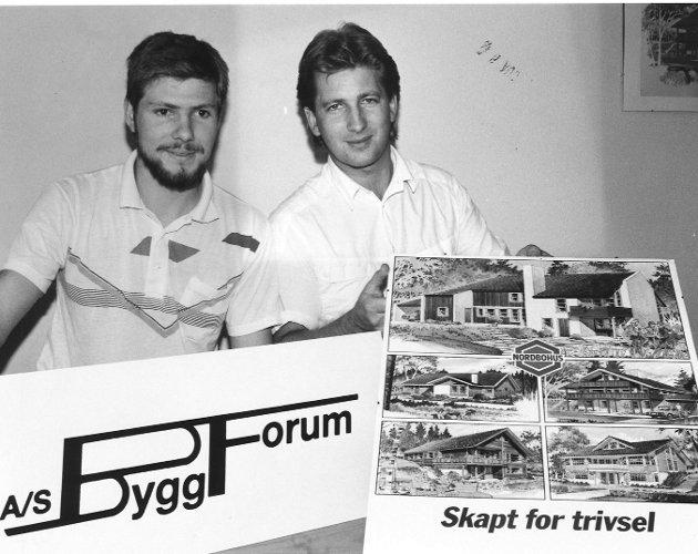 A/S Byggforum, med Henning Hugger og Torbjørn Karlsen, 1988.