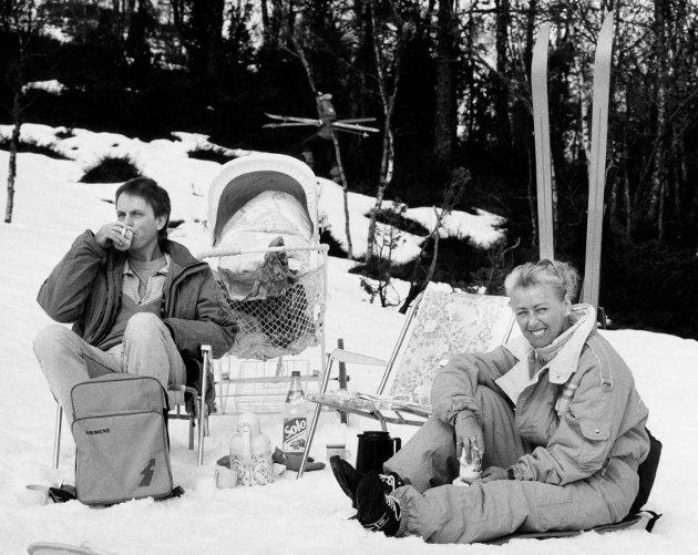 Greta Brattreit og Arne Tefre i påska 1992.