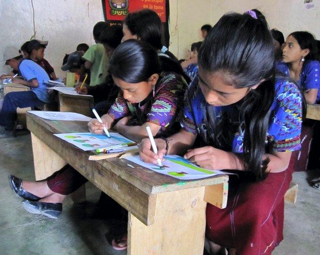 Skole: Utdanning er en avgjørende faktor for å bekjempe fattigdom. Her fra en skole i Guatemala.