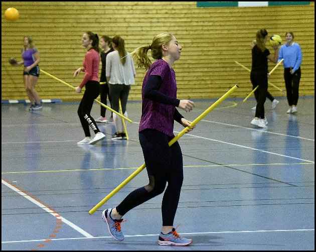 Rumpeldunk for utvekslingselever på St. Olav videregående skole.
