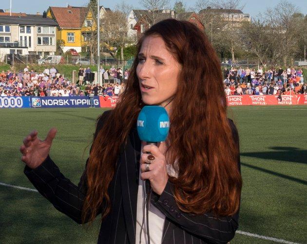 HETSES: Lise Klaveness er NRKs ekspertkommentator under fotball-VM i Russland. Det har satt mange sinn i kok. – Hva i huleste er vitsen? Hva er fornøyelsen med å spre «dritt» om andre mennesker, spør Bjørn Druglimo.