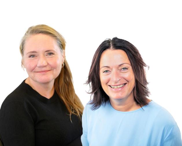 Eva Kristin Hansen og May Britt Lagesen i Trøndelag Ap.