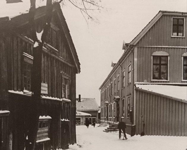 Biørnegården i Pettershollet 1919. Bildet er hentet fra boka til Helge Knudsen Strømme, og brukes som illustrasjon.