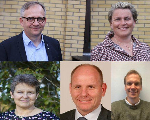 Vil forbli selvstendige: Ordførerne i fem kommuner i Østfold vil ikke finne seg i at landets regjering mener mindre kommuner ikke er gode nok.