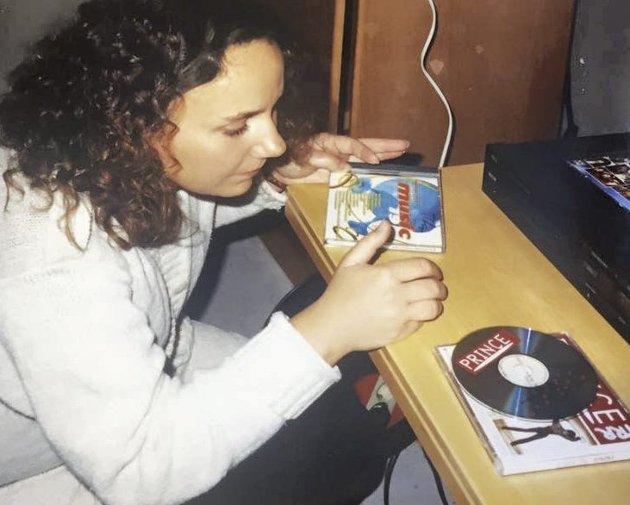 Cd-tida: Undertegnede en gang i cd-tida. Foto: privat