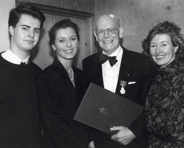Familien: Jakob og Inger-Lise med barna Karl Jakob og Pernille i 1989. FOTO: EIRIK HAGESÆTER