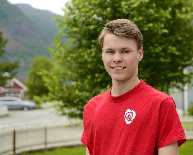 Egil Natvik Vestrheim, ungdomskandidat for Ap, Lærdal