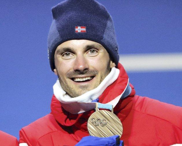 HARDT ARBEID: Mange treningstimer ligger bak Hans Christer Holunds bronsemedalje i Pyeongchang. FOTO: NTB SCANPIX