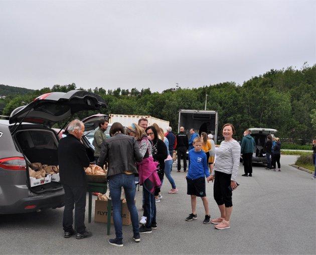 Utlevering av lokalmatvarer i Bodø