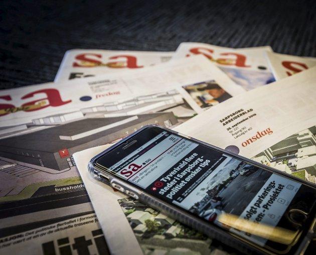 – Til tross for økt konkurranse fra mange kanter: Nordmenn er et avislesende folk - og lokalavisene har en sterk posisjon, skriver Mari Velsand, direktør i Medietilsynet. Hun mener dette vil vare langt utover i tiåret vi nå har gått inn i. (Foto: Vetle Granath Magelssen)
