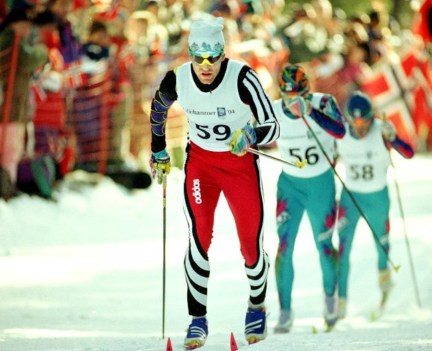 """OL 1994. """"Smirre"""" vant endelig sin olympiske gullmedalje, den kom på OLs siste dag,  på 50 kilometeren."""