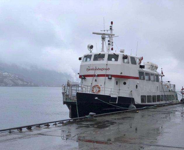 I førre veke opplyste rådmann i Odda og Ullensvang, Magnus Steigedal, at MS Fjærlandsfjord no ligg til hamn i Odda og kan nyttast som rasbåt i vinter om vegar vert stengt.