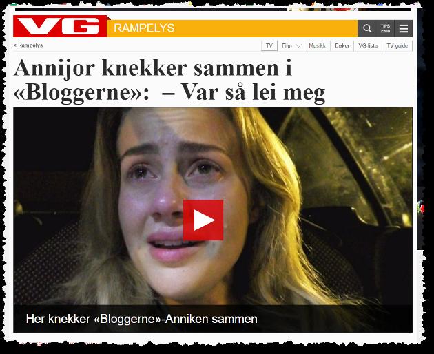 Skjermdump fra saken VG Rampelys skrev om videoen som fikk Henrik Troy Johansen til å forfatte denne teksten.
