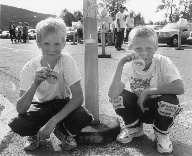 Magnus Kibsgaard (t.v.) og Eirik Grønning var blandt de yngste som stilte opp i MIP Trim Grand Prix. Rebus-opplegget var for kjedelig for de to.