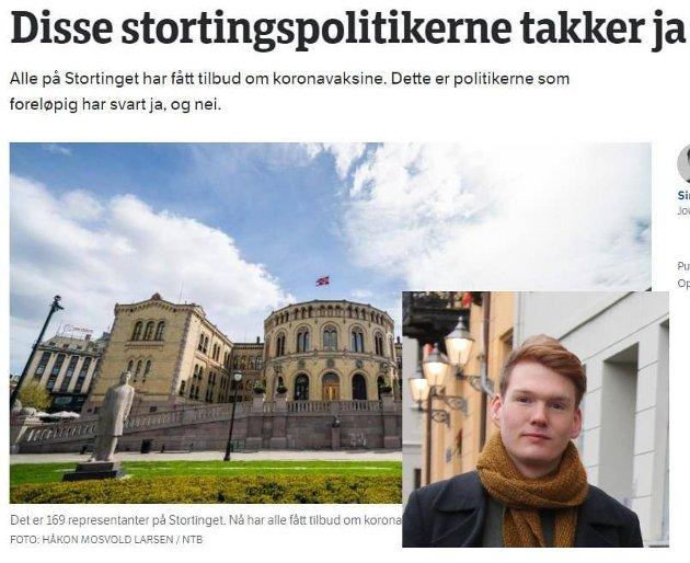 Løvebakken-gate ruller videre. Så får vi se hva det neste blir. Denne sitronen tror jeg kan rulles og skvises i ukesvis, skriver Ask Ibsen Lindal, stortingskandidat for MDG.