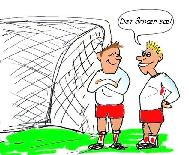 Optimist: Pølsevevets Erik Johansen gleder seg over FFKs form om dagen. - Flyten er tilbake, skriver Johansen som måtte klype seg i armen da han så FFK snudde 0-1 til 2-1. (Tegning: Jørn Grynnerup)